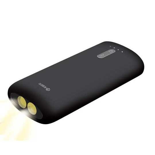 Ksix Auxiliary Battery 4000 Mah Led Flashlight+Micro Usb 70 Cm