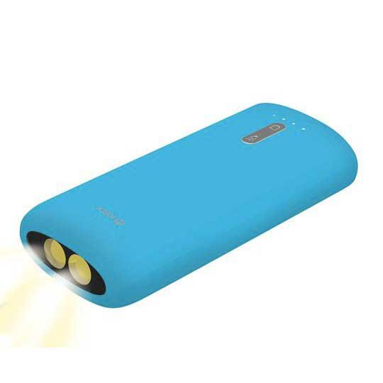 Ksix Auxiliary Battery 4000 Mah Led Flashlight+Micro Usb 70 Cm