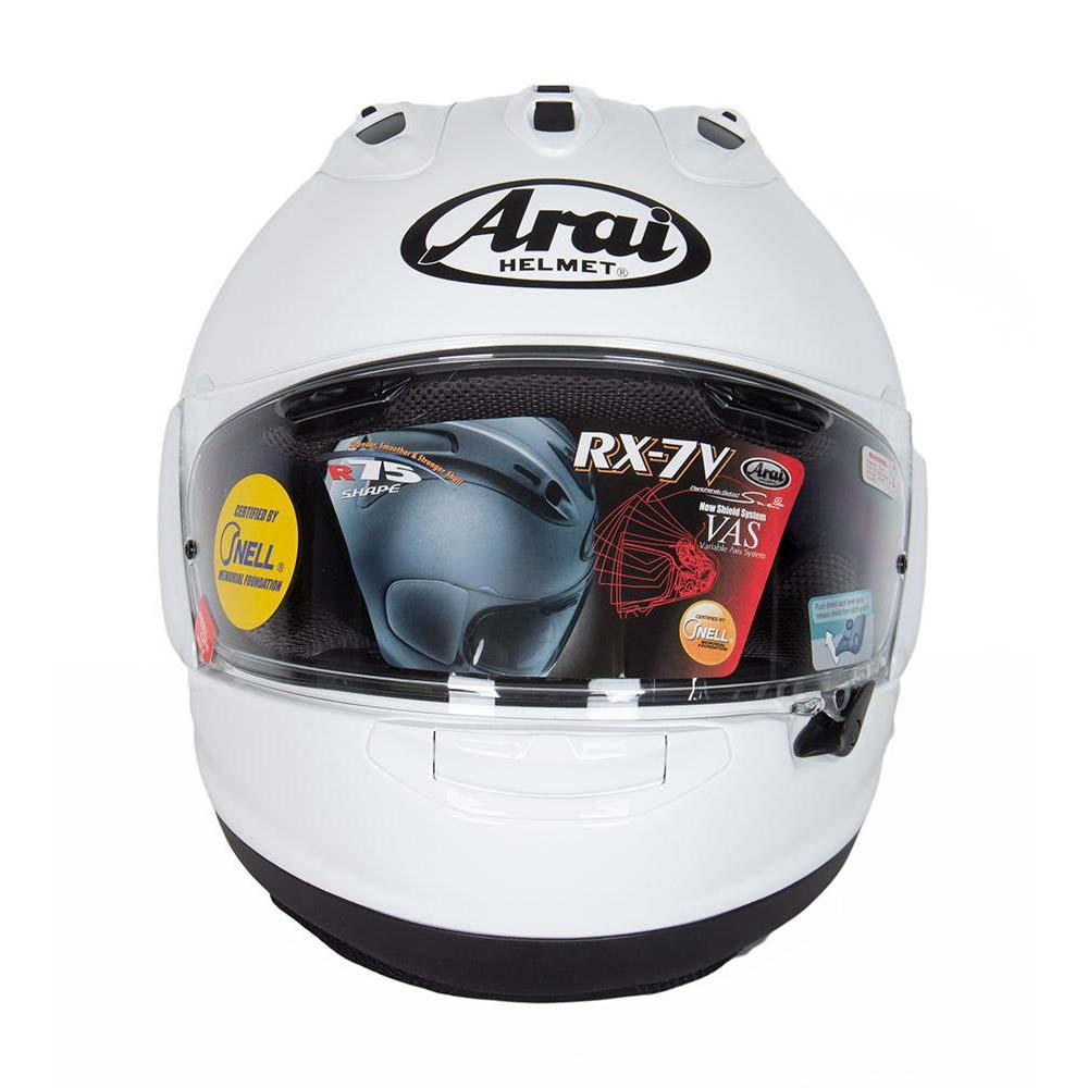 arai rx 7v white buy and offers on motardinn. Black Bedroom Furniture Sets. Home Design Ideas