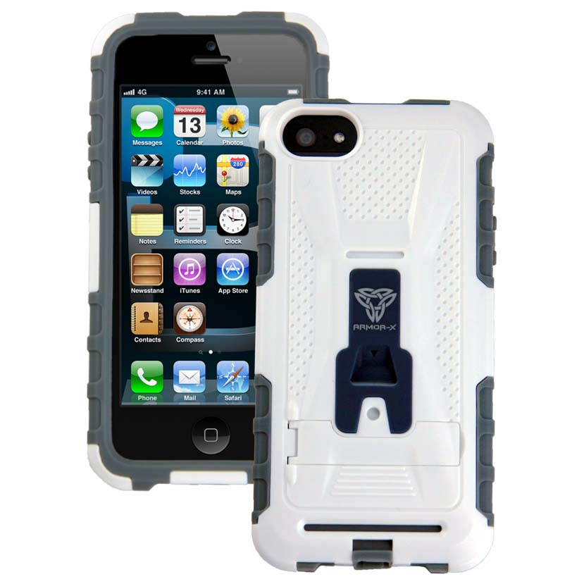 pretty nice cfa03 be19f Armor-x cases Rugged Case for iPhone 5 with Kickstand