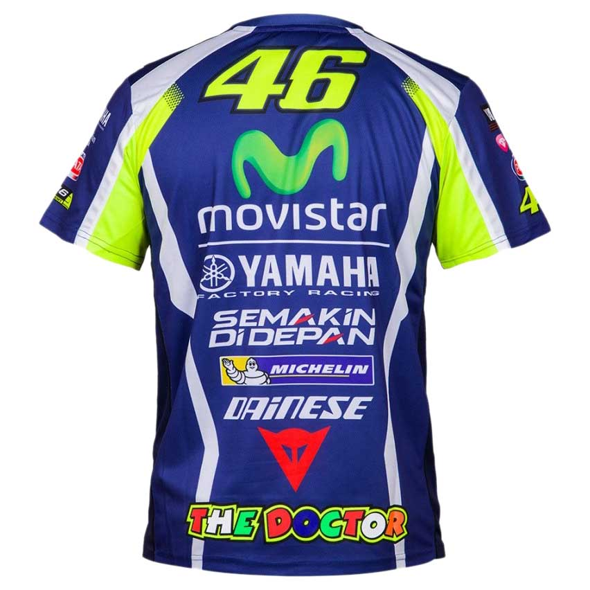 valentino rossi tshirt vr46 replica yamaha buy and offers. Black Bedroom Furniture Sets. Home Design Ideas