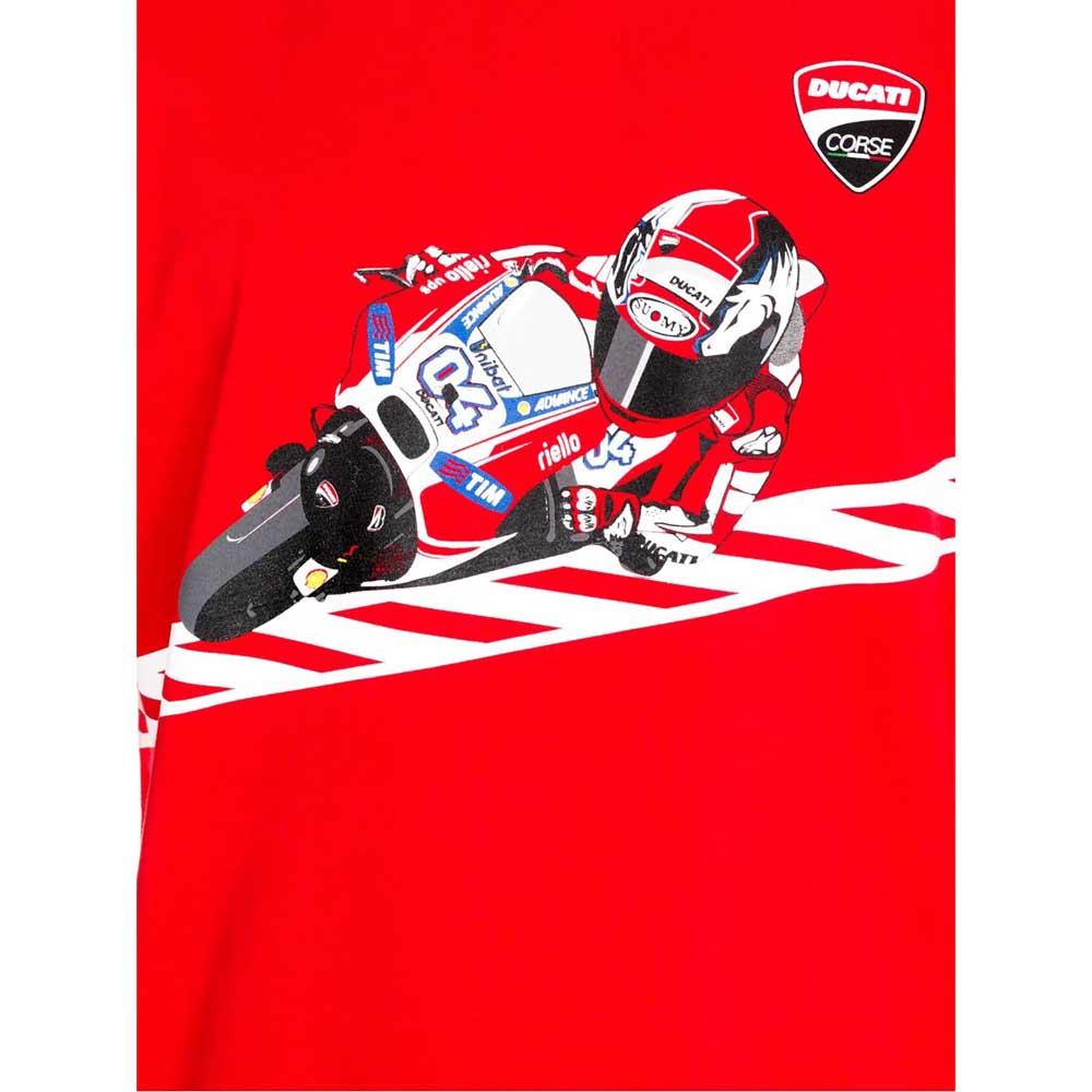 Ducati T Shirt Cartoon Dovizioso Ducati Dual Red Motardinn