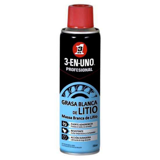 3 en 1 Professional White Lithium Grease Spray 250ml