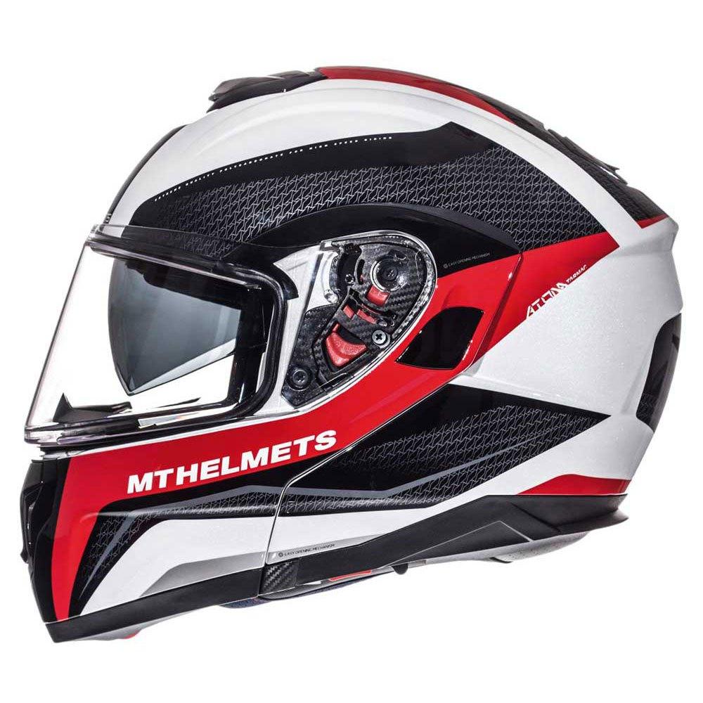 Mt Helmets Atom Sv Tarmac Red Buy And Offers On Motardinn Helm Glossy Racing Spirit White Blue