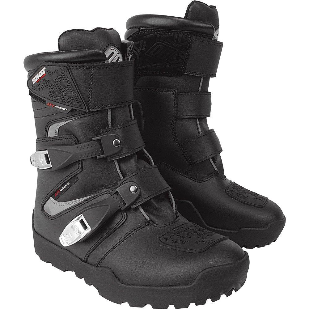 1dfbedcdb396ef Shot ATV Quad Boots Black buy and offers on Motardinn