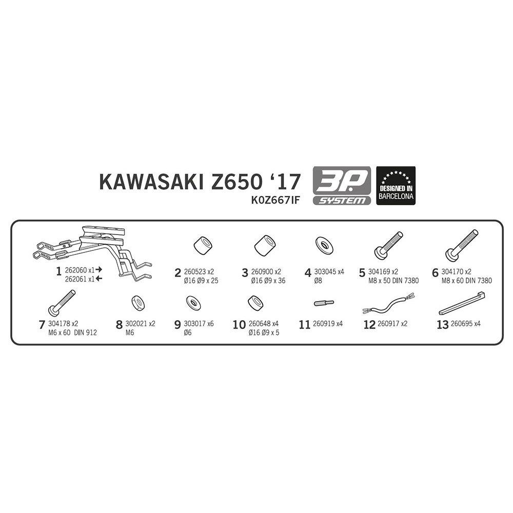 Shad Side Master 3P System Kawasaki Z650