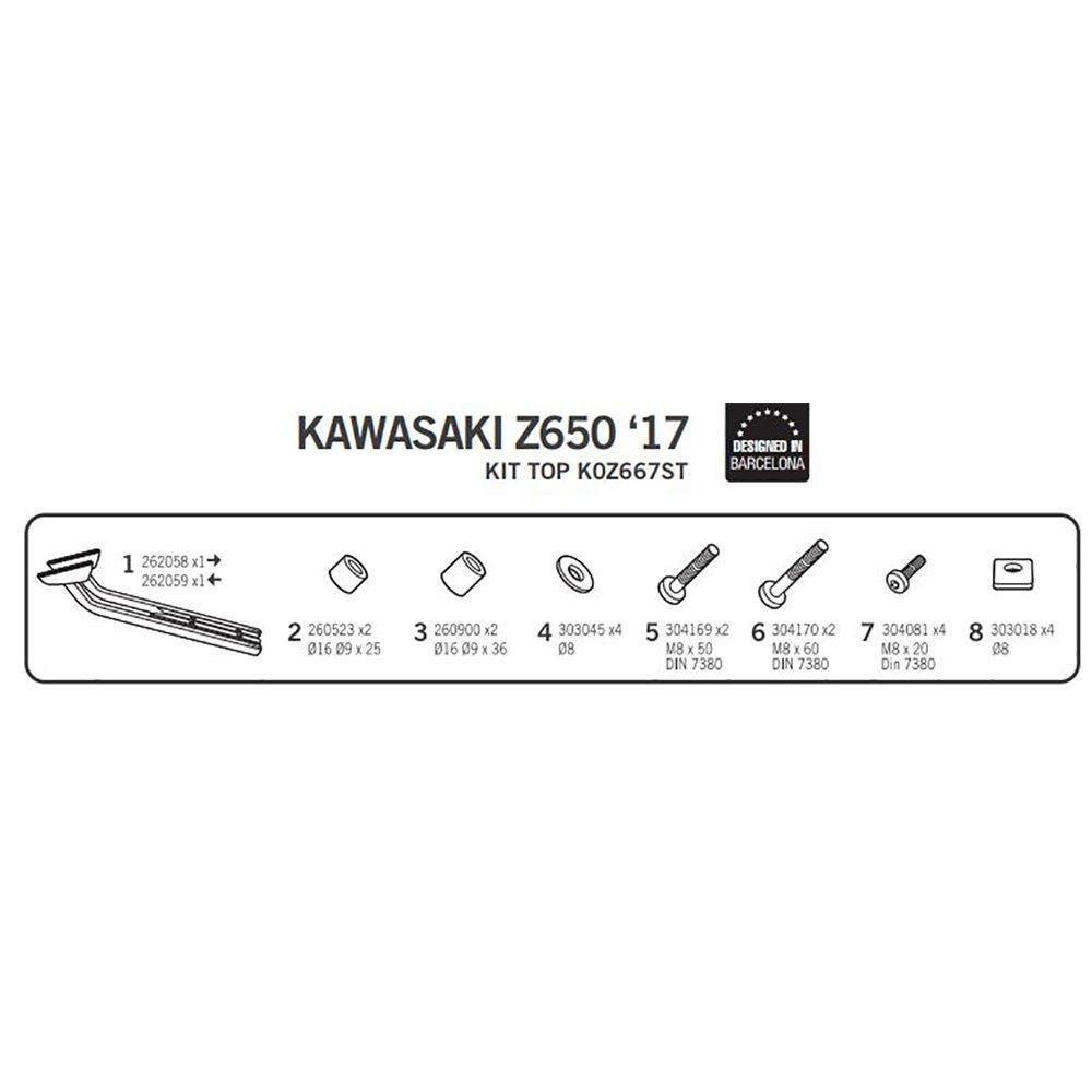 Shad Top Master Kawasaki Z650