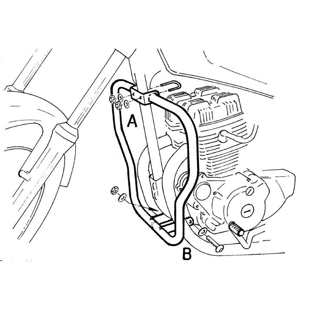 Hepco Becker Engine Crash Bar Honda Cm 125 Silver Motardinn