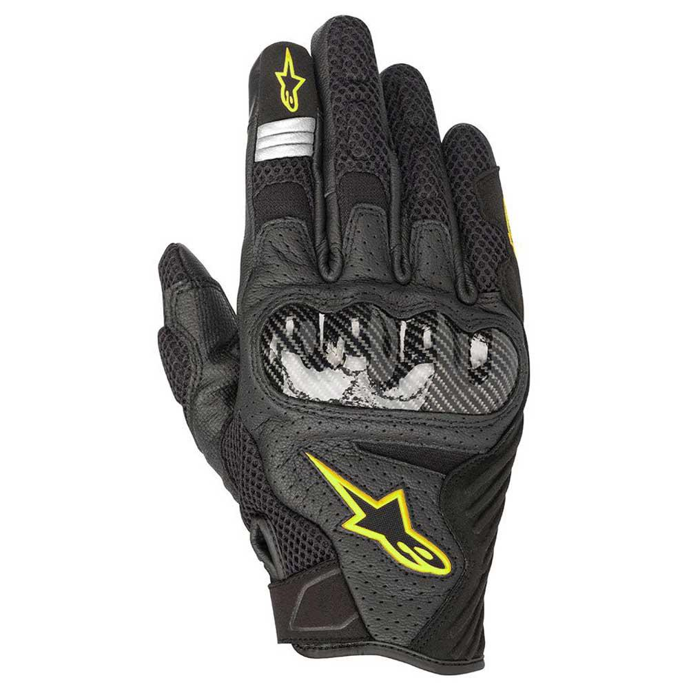 Black//Red Sz L Alpinestars SMX-1 Air V2 Vented Leather Motorcycle Glove