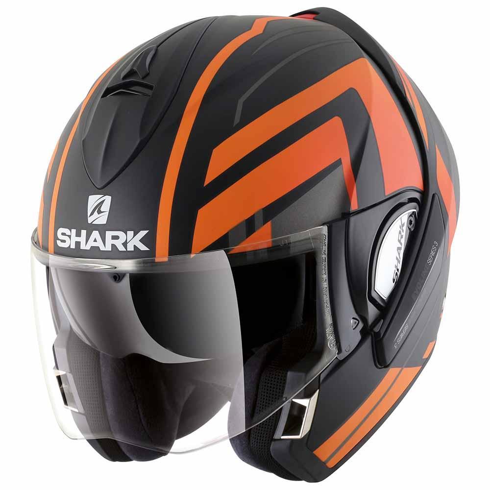 Shark Evoline 3 Corvus Mat Black Buy And Offers On Motardinn