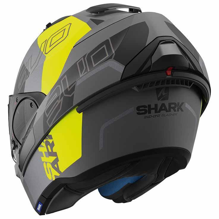 shark evo one 2 slasher mat yellow buy and offers on motardinn. Black Bedroom Furniture Sets. Home Design Ideas