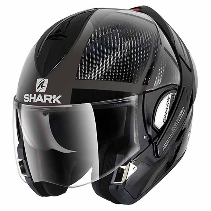 Shark Evoline Pro Carbon Drakfor Dual Touch Grey Motardinn