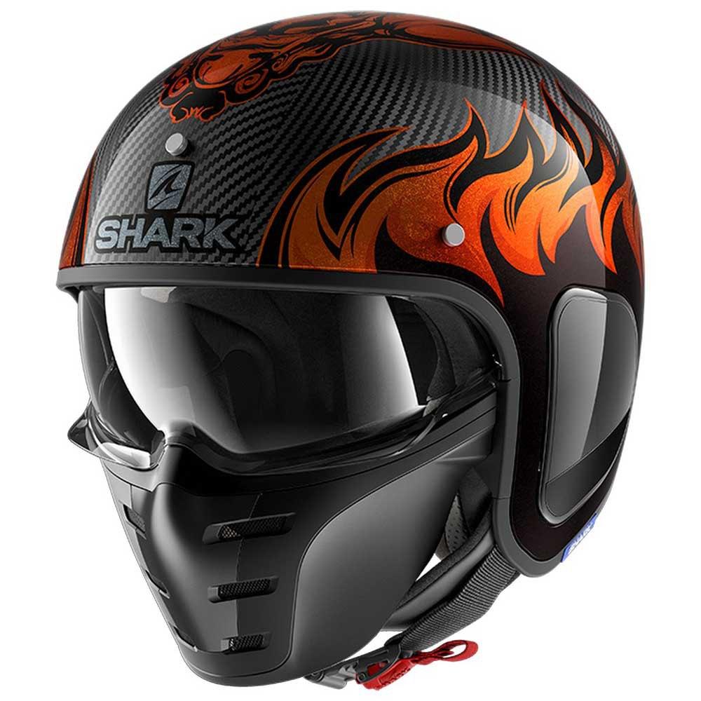 shark s drak carbon dagon orange buy and offers on motardinn. Black Bedroom Furniture Sets. Home Design Ideas