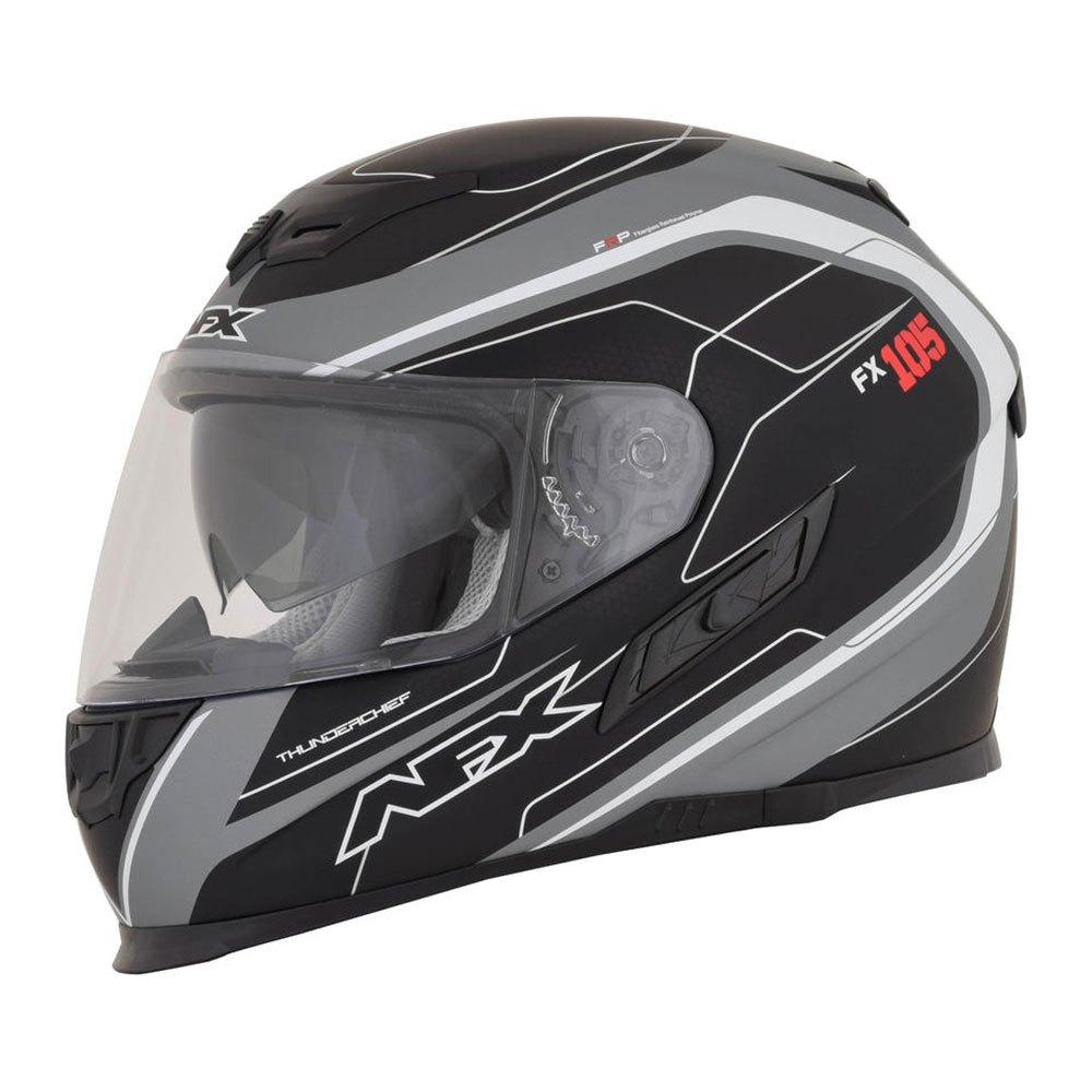 AFX FX-105 Thunder Chief Full Face Motorcycle Helmet Black