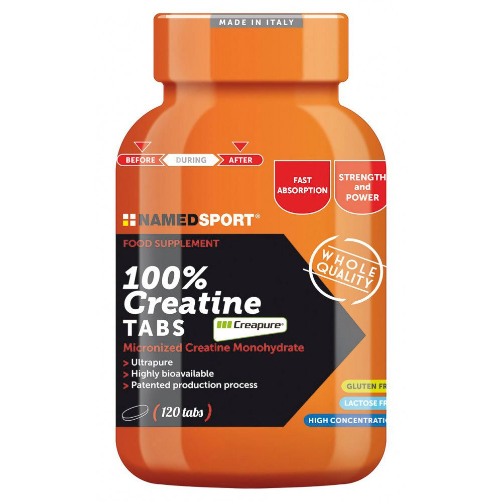 100% Creatine Tabs 120 Caps