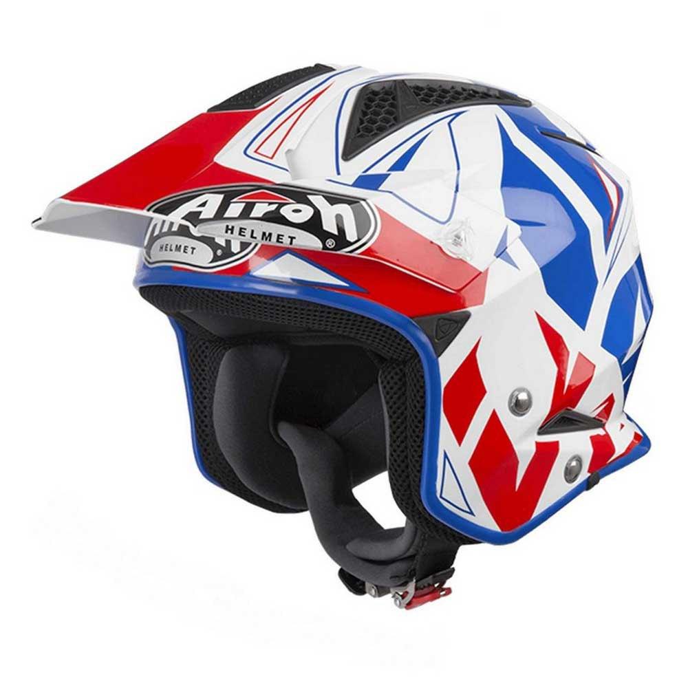 Helmet Jet On-Off Airoh Trr S Color White Gloss