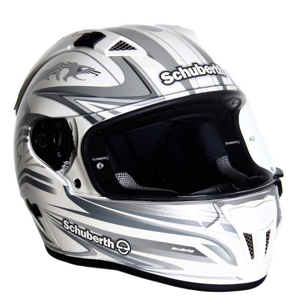 Schuberth SR1 Racing Line White Silver Grey