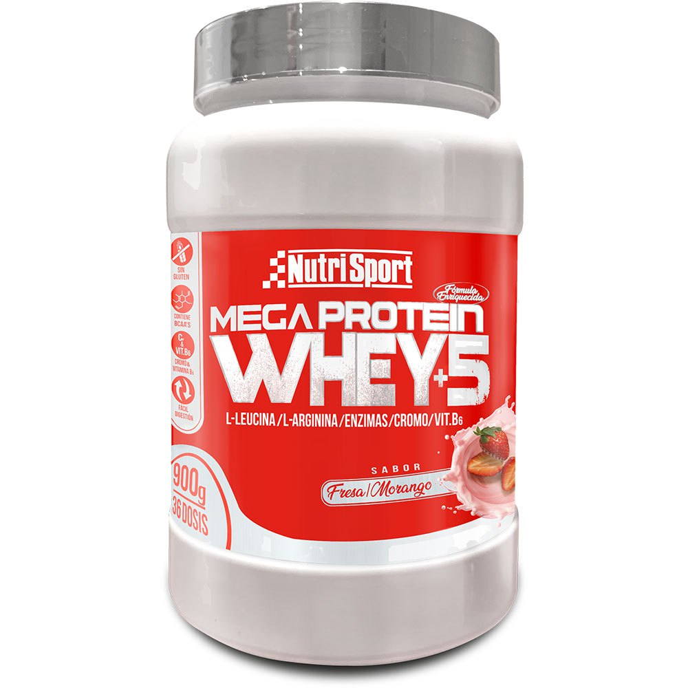 Nutrisport Mega Protein Whey+5 900gr Strawberry