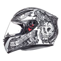 Mt helmets Revenge Skull and Rose
