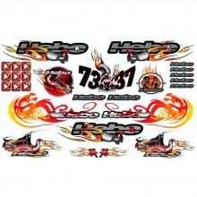 Hebo Hebo Stickers Racing Fire