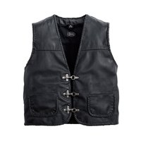 Spirit motors Perforated Leather Vest 1 0