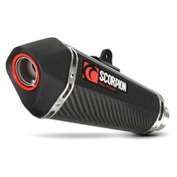 Scorpion Serket Taper Slip On Carbon Fibre CB Hornet 600 07-13