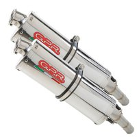 Gpr exhaust systems Trioval Dual Slip On ETV Caponord 1000 Rally 01-07 Homologated
